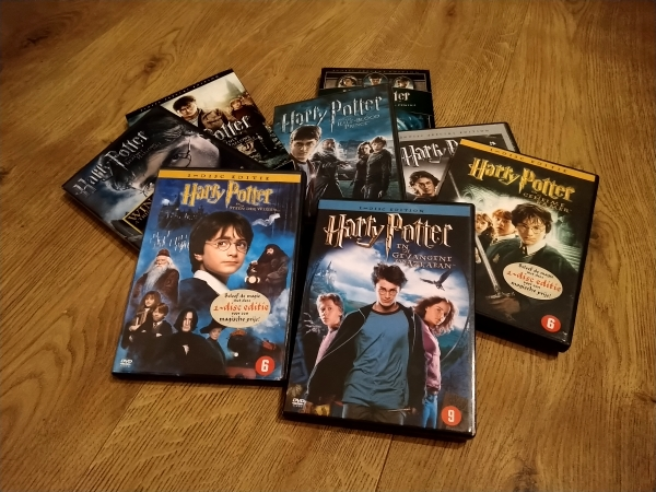 Harry Potter films op dvd