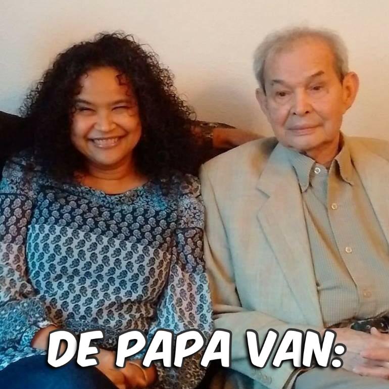 De papa van Tina