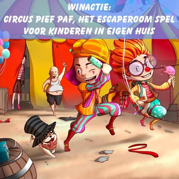 circus pief paf escaperoom voor kinderen