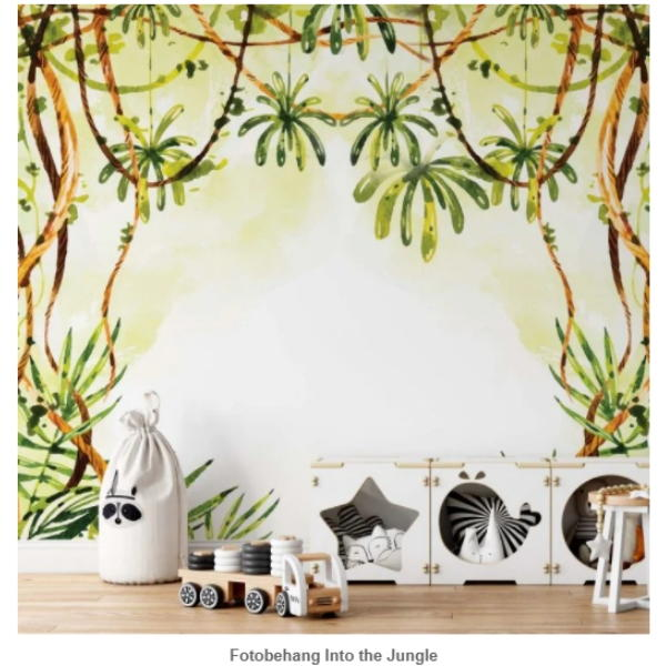 kinderbehang, behang, kinderkamer, jungle, natuur