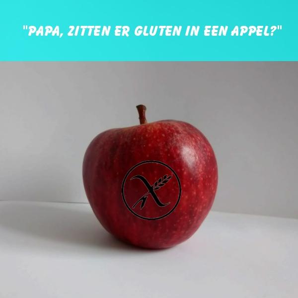 appel, glutenvrij, coeliakie