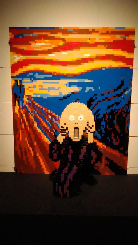 the art of the brick, nathan sawaya, amsterdam 2021, LEGO, kunstwerken van lego, edvard munch