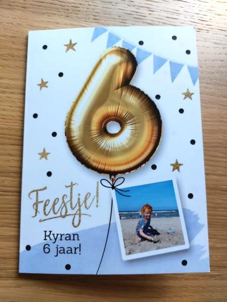 uitnodiging kinderfeestje, kinderfeestje, greetz, 6 jaar