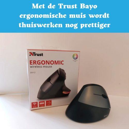 trust bayo, draadloze muis, ergonomisch, thuiswerken