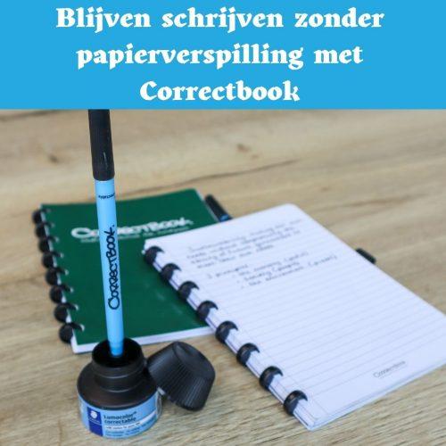 correctbook, uitwisbaar notitieboek, uitwisbare agenda, wisbare pen
