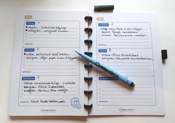 correctbook, agenda