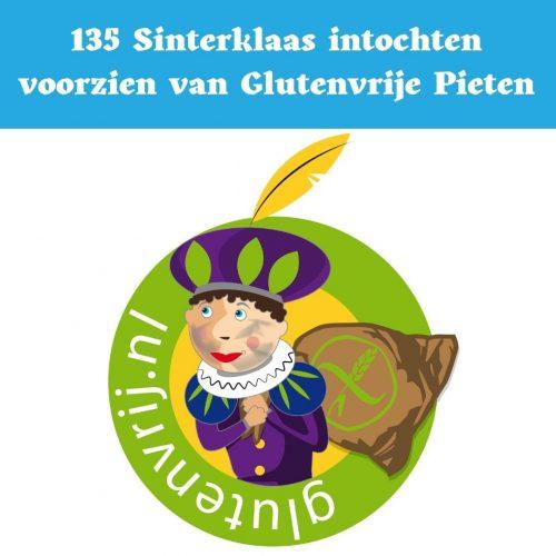 piet, glutenvrij, glutenvrije piet, ncv, coeliakie, In meer dan 135 gemeenten in Nederland loopt ook dit jaar een Glutenvrije Piet mee tijdens de intocht van Sinterklaas. De Glutenvrije Piet is een initiatief van de Nederlandse Coeliakie Vereniging (www.glutenvrij.nl) en was bij de start in 2017 een groot succes. Het hulpje van Sint voorziet kinderen met coeliakie van glutenvrije en lactosevrije Consenza kruidnoten.