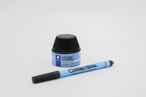 correctbook, hervulbare pen, inkt