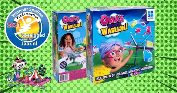 oma's woeste waslijn, megableu, spelletje, speelgoed van het jaar 2021